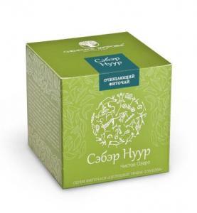 Фото Здоровий шлунок БАД Фіточай «Сэбэр Нуур» (Чисте озеро), зелена упаковка