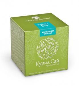 Фото Здоровий шлунок БАД Фіточай «Курил Сай» (Курильский чай) зелена упаковка
