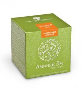 Фото Здорова печінка БАД Фіточай «Аминай Эм» (Трава жизни), зелена упаковка