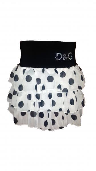 Детская шифоновая юбка оптом Ламбада