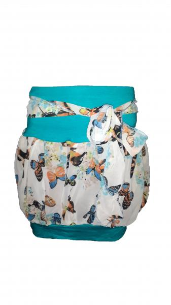 Детская шифоновая юбка Бочонок