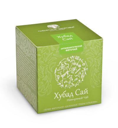 БАД Фіточай «Хубад Сай» (Жемчужный чай), зелена упаковка