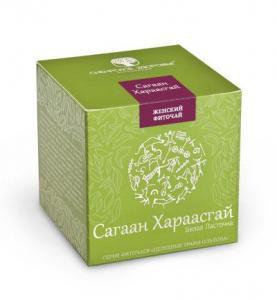 Фото Для жінок БАД Фіточай «Сагаан Хараасгай» (Белая ласточка) зелена упаковка