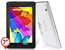 KO PAPA7 Радуга 7,0 & Quot; Емкостный G + G сенсорный экран с разрешением 1024x600 Android 4.2.2 Dual Core ATM7021 1.2GHz Tablet PC с Wi-Fi, камера (8GB) (белый)