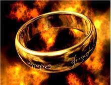 316L Titanium стальные Властелин кольца Лазерная гравировка дизайн Ring 10 # (Champagne Gold)