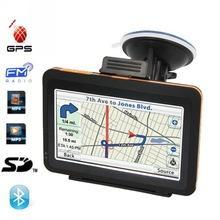 4.3 дюймов автомобильный GPS навигация с процессора Atlas5 533 мГц SIRFIII и 128 м встроенный в 4 ГБ с высоким разрешением 480 x 272