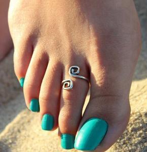Фото Кольца Кольцо на ногу Завиток