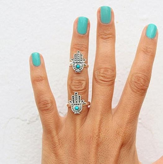 Кольцо на фалангу Рука Фатимы
