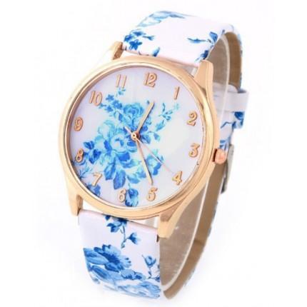 Часы наручные женские GENEVA в цветах (Розы)