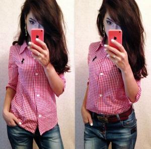 Фото Оптовые продажи , Блузы и рубашки РУБАШКА 1110 PL