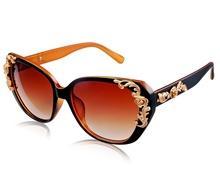 4167-Женские Пластиковые очки (коричневый) М.