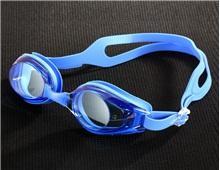 Пластиковые противотуманные плавательные очки (синий)