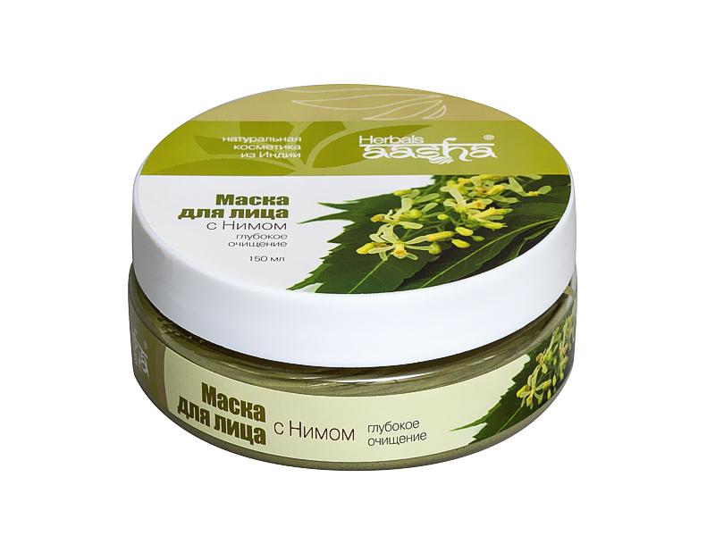 Маска для лица с нимом - 150 мл. Aasha Herbals