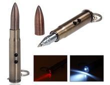 Пуля Shaped Многофункциональный светодиодный фонарик, лазерная указка & Шариковая ручка