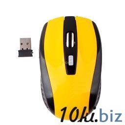 Wireless Optical Mouse Mice + USB 2.0 Receiver Adapter for Laptop PC Yellow купить в Братске - Комплектующие для компьютерной техники  с ценами и фото