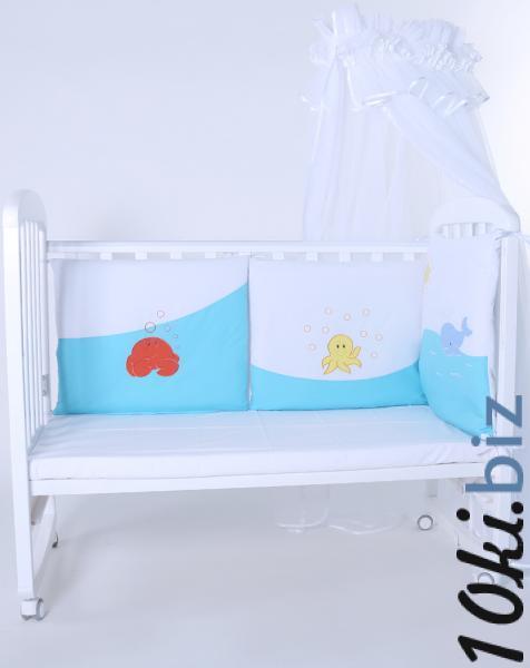 """Защита в детскую кроватку """"Море бирюзовое"""" 300см + КПБ Защита в детскую кроватку, бортик, бампер в Украине"""