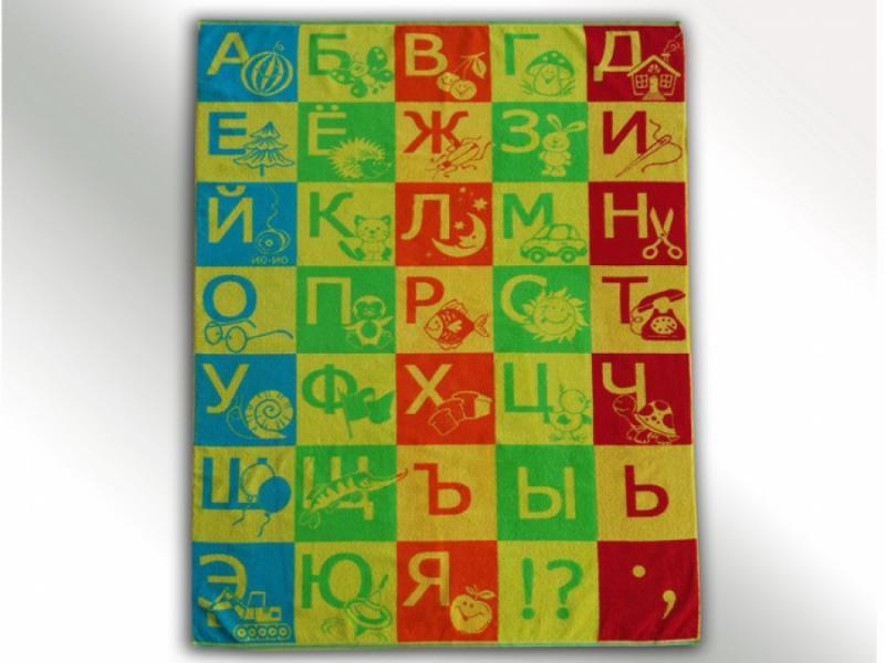 """Простынка махровая """"Алфавит"""" 104х160 хлопок"""