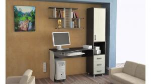 Фото Компьютерные столы Стол компьютерный «Гимназист М» (комплект с полкой)(ТриЯ)