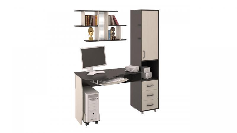 Фото Компьютерные столы ТриЯ-Стол компьютерный «Гимназист М» (комплект с полкой)