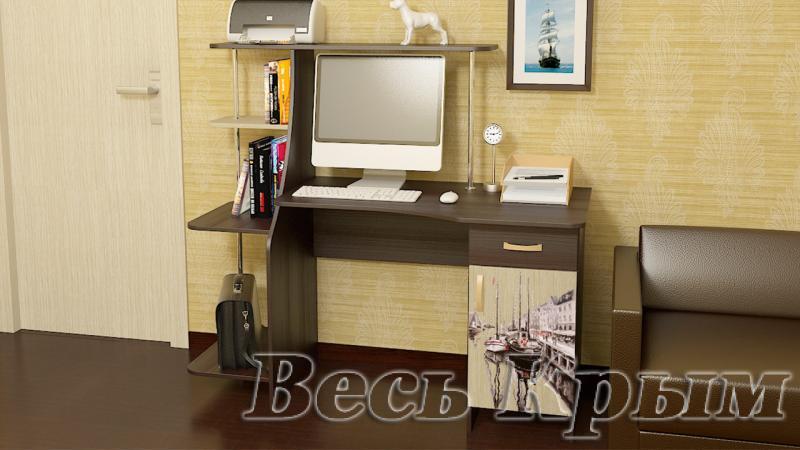 ТриЯ-Компьютерный стол «Студент-Стиль М»с рисунком Компьютерные столы в Крыму