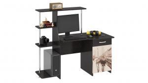 Фото Компьютерные столы Компьютерный стол «Студент-Стиль М»с рисунком(ТриЯ)