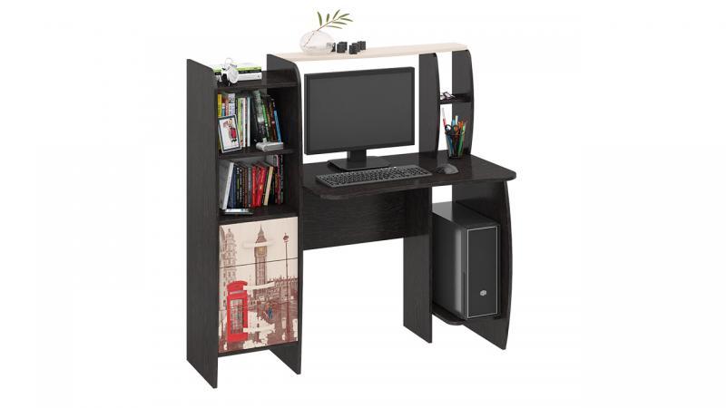 Фото Компьютерные столы ТриЯ-Стол компьютерный «Школьник-Класс М» с рисунком