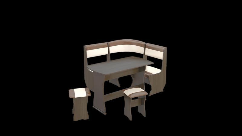 Кухонный уголок «Уют-1 К» Мини Люкс(ТриЯ)