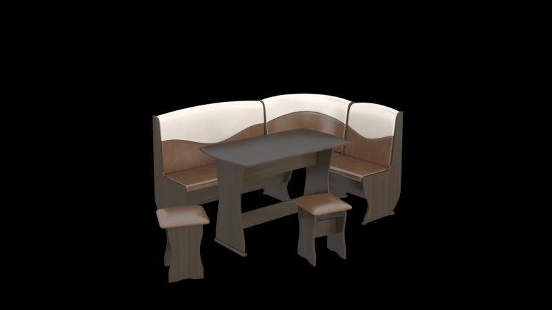 Кухонный уголок «Уют»-2 ЛЮКС(ТриЯ)