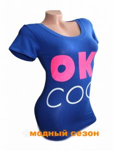Фото Женская одежда, Женские майки,футболки,шорты,туники 1.Футболка женская ОК електрик