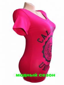 Фото Женская одежда, Женские майки,футболки,шорты,туники 1.Футболка женская Калифорния малина