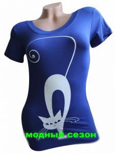 Фото Женская одежда, Женские майки,футболки,шорты,туники 1.Футболка женская Кошечка