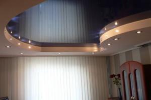 Фото  Двухуровневые натяжные потолки.