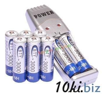 8x 2а а . а . 3000 мАч 1.2 В н . и . MH BTY аккумуляторная батарея + а . а . / AAA USB зарядное устройство купить в Братске - Батареи и аккумуляторы с ценами и фото