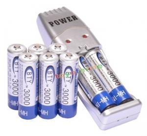 Фото Источники питания и зарядные устройства 8x 2а а . а . 3000 мАч 1.2 В н . и . MH BTY аккумуляторная батарея + а . а . / AAA USB зарядное устройство