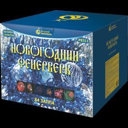 """Салют """"Новогодний фейерверк"""" 84залпа (1мин)"""