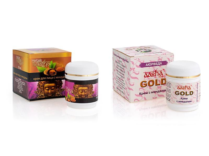 Крем с миндалем - 50 гр. Aasha Herbals