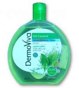 Фото Аюрведическая косметика Лосьон очищающий для лица Dermoviva Oil Control 225 мл