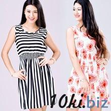 Корейских женщин свободного покроя чешские цветочные рукавов жилет печатных пляж шифона платье купить в Братске - Платья, сарафаны женские с ценами и фото