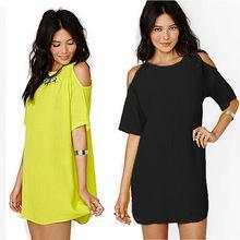 Сексуальная новые дамы с плеча ну вечеринку топы рубашку шифон блузка мини платье