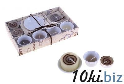 """Свечи восковые (набор 7 шт + подсвечник) """"Карамельная долина"""" 107329 Сувенирные наборы для мужчин в Казахстане"""