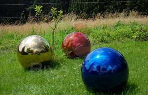 Фото  Декоративные шары из нержавейки