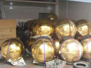 Фото  Нержавеющие пустотелые шары для крестов