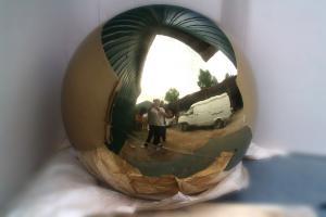 Фото  Подкрестные яблоки шары нержавеющие