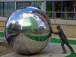Фото  Пустотелые шары из нержавеющей стали