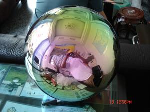 Фото  Цветные пустотелые шары из нержавеющей стали