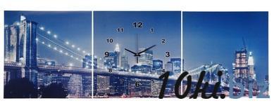"""Часы настенные картина 3в1 """"Мост в огнях"""" 127124 купить в Павлодаре - Часы с ценами и фото"""