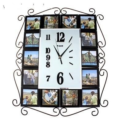 """Часы настенные, 14 фоторамок """"Стильный век"""" 672079"""