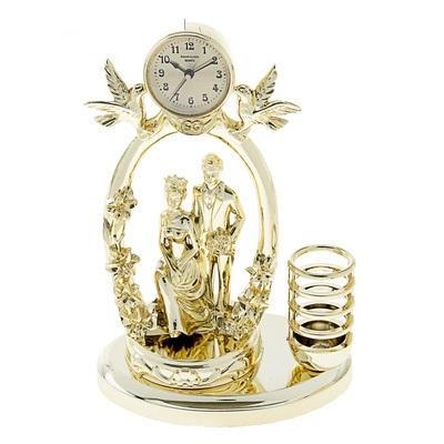 """Часы настольные """"Пара под сенью"""", золото, батарейка в комплекте 729378"""