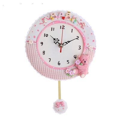 """Часы настенные детские с маятником """"Мишка с цветочком"""" 834831"""