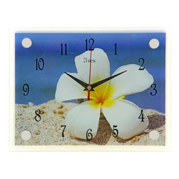 "Часы настенные прямоугольные ""Цветок"", 20х26 см 1103768"